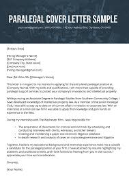 Typical Resume Cover Letter Paralegal Cover Letter Example Resume Genius
