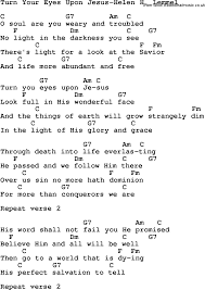The Light Of The World Is Jesus Lyrics Turn Your Eyes Upon Jesus Google Search Christian Song