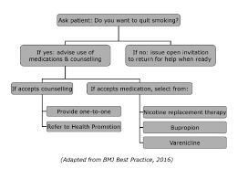 Stop Smoking Health Chart Smoking Cessation Flowchart For The Clinician Download