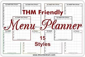 Friendly Menu Planner Styles Editable Meal Blank Weekly Template ...