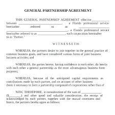 Sample Partnership Agreement Form General Contractor Agreement Template General Agreement
