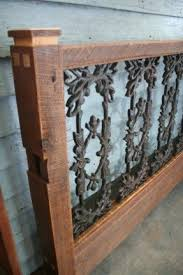 wood and iron furniture. this guy makes wood and wrought iron beds made from furniture