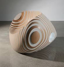 Beautiful Sculptural Chair in Unique Paatern