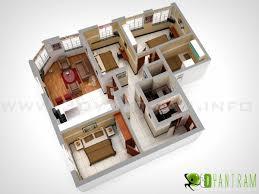 D Virtual Floor Plan Visualization Luxury House Plans  D - Small apartment floor plans 3d