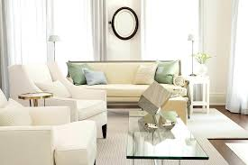 exquisite white living room table small design with glass coffee surrounded leather armchair furniture and cream