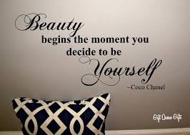Coco Chanel Quotes On Beauty Best of Coco Chanel Quote Wall Decal Beauty Begins The By GiftQueenGifts
