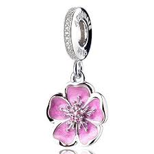 ATHENAIE 925 Sterling Silver Romantic Pink Enamel ... - Amazon.com