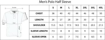 Polo T Shirt Size Chart Polo T Shirts Size Chart Rldm