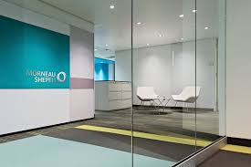 clear office.  Office Impressive Modern Office Lobby Decor Ideas Using Clear Glass Divider And  White Chairs  Intended