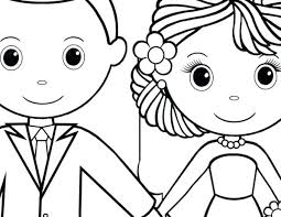 Wedding Coloring Page Printable Wedding Coloring Book Pages Free
