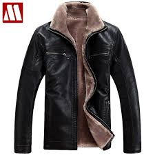 plus size 4xl fur lined leather jacket and coats brand designer mens fur leather winter jackets man motorcycle outerwear brown leather er jacket mens