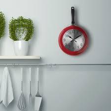 wall clock metal frying pan design 8