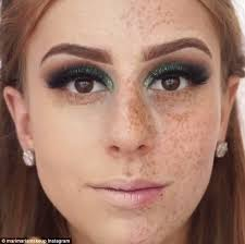 transformation brazilian make up artist maria mari is able to pletely cover her freckles using