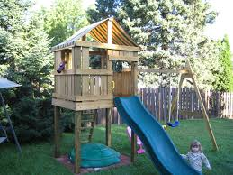 image of diy playset plans ideas