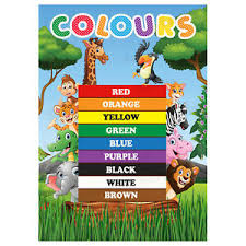 Wall Chart Jungle Details About Colours Poster First Learning Kids Educational Wall Chart Jungle Animals Theme