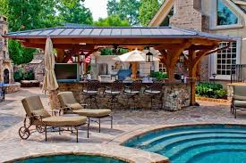 Kitchen , Incredible Outdoor Kitchen Ideas; Extra Charming For Backyard :  Nice Design Of Outdoor