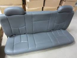 99 06 chevy silverado gmc sierra extended cab dark gray leather rear bench seat