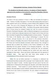 Example Of Literature Essays 10 Example Of Literature Review In A Research Paper