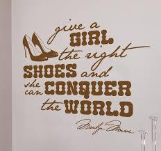 right shoes marilyn monroe e wall sticker