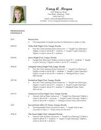 Dance Resumes Template Dance Resume Template Dance Instructor Resume Samples Visualcv 3