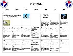Let's Get Moving! Physical Fitness Activity Calendar For May 2014 ...