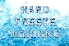 Freezing Temperature Temperature To Drop Well Below Freezing Hard Freeze Warning Issued