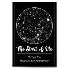 Constellation Chart Custom Personalized Star Constellation Map With Frame Option Star Chart Choose Your Font Custom Engagement Anniversary Birthday Baby Gift Night