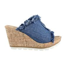 Womens Minnetonka York High Heel Wedge Sandals