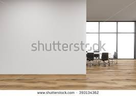 wall pictures for office. empty office white wall in front of panoramic window table for meetings wooden pictures