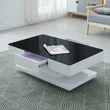white high gloss coffee table with 2