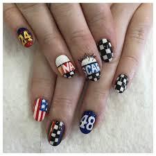 Nascar Nail Art Designs Nascar Nails Nail Art Inspiration For Next Week In New