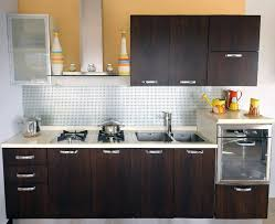 Ideas To Small White Themed Remodel A Kitchen Design With Elegant Dark  Brown Wood Base Kitchen Cabinet That Have White Marble Countertop And  Minimalist Wall ...
