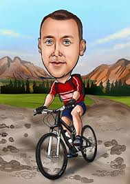 mounn bike caricature gift