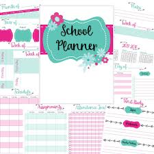 Day Tracker Planner Free Homeschool Planner Pages Daily Weekly And Monthly Pages