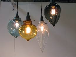 hand blown glass lamp shades pendant light colorful lights image