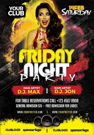 Friday Night Party Free Psd Flyer Template Free Psd Flyer