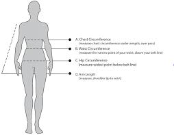 Arm Length Size Chart Womens 7mesh Clothing Size Chart