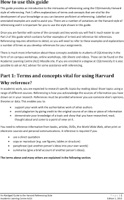 Harvard Referencing Style Pdf