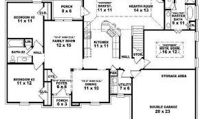 single story open floor plans one