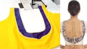 U Neck Saree Blouse Design U Neck Blouse Design Designer Blouse Patterns Back Neck Deep Neck U Shaped Blouse