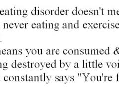 Inspirational Quotes Eating Disorder. QuotesGram