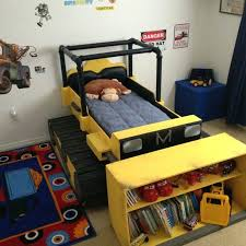 dump truck bed toddler monster sheets