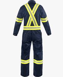 9 Oz Fr Cotton Coveralls With Reflective Trim Lakeland
