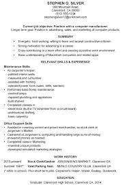Short Resume Best Resume Sample Computer Manufacturing
