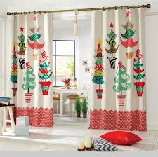 Living Room Christmas Curtains For Wonderous