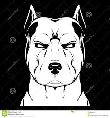 Angry Dog Stafford Stock Vector Illustration Of Graphic 83587555