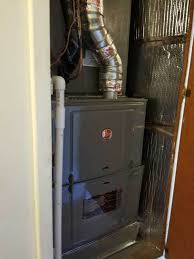 furnace closet door new rheem furnace installation in closet in pico rivera ca water heater closet