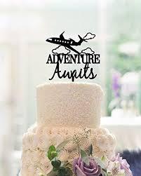 Amazoncom Unique Design Adventure Wedding Cake Toppers