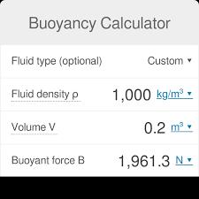 Buoyancy Calculator Omni