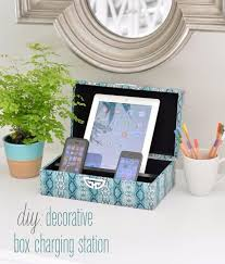 Wonderful DIY Teen Room Decor Ideas For Girls | DIY Decorative Box Charging Station |  Cool Bedroom